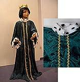Sternsinger Kostüm Königs Mantel grün Größe 140/152