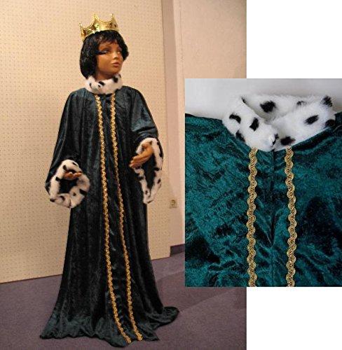 Sternsinger Kostüm Königs Mantel grün Größe (Kinder Kostüm Krippe König)