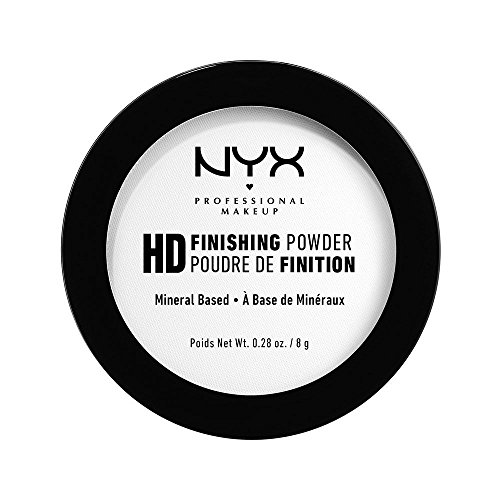 NYX Professional Makeup High Definition Finishing Powder, Gepresstes Puder, Perfektionierte Haut, Mattes Finish, Ölabsorbierend, Vegane Formel, Farbton: Translucent -