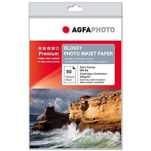 AgfaPhoto Photo Papier, A4, 240 gram, 50 Blatt -