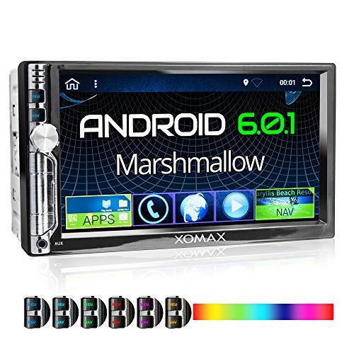 XOMAX XM-2VA706 Autoradio mit Android 6.0.1, 2GB RAM, WiFi W-LAN, 3G Support, OBD2 Support, DAB+ Support, GPS Navigation, Bluetooth Freisprecheinrichtung, 7 Zoll / 18 cm Bildschirm ( Touchscreen Display), USB, Micro SD, Anschlüsse für Rückfahrkamera, Lenkradfernbedienung und Subwoofer, Doppel DIN / 2 DIN