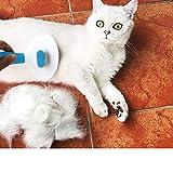 Racksoy Fellpflege Katzenbürste Hundebürste Effektive Fellbürste mit Reinigungsknopf gegen Verfilzungen für kleines Tier - 7