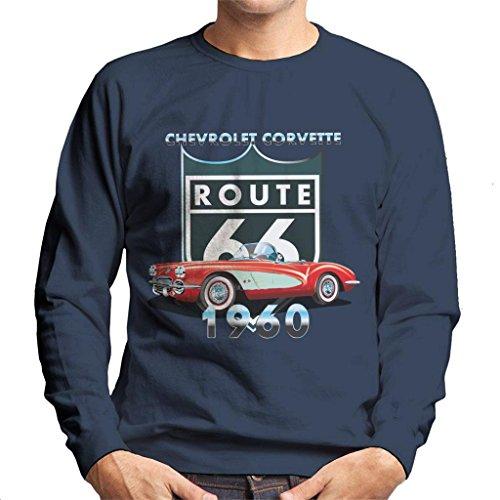 Chevrolet Corvette Route 66 1960 Men's Sweatshirt - Sweat-shirt Corvette