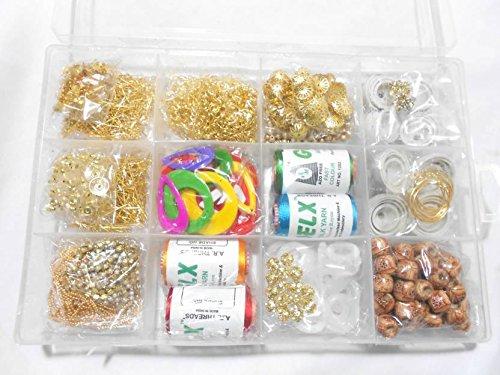 Am Silk Thread Earring/Jhumka Making Kit- All Jhumka Making Materials- Makes Different...