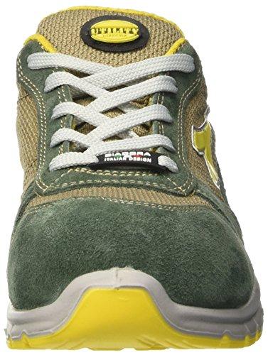 Diadora Unisex-Erwachsene Run Textile Low S1p Arbeitsschuhe Grün (Verde Oliva/beige Corda)