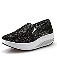 ef0eda8e60ffb Donna Scarpe Mesh Platform Dimagranti Sportive Basculanti Fitness Scarpe da  Ginnastica Sneaker Zeppa Summer
