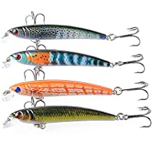 Ouken Pintado Bionic Peces Pesca Bait(Random Color) 1 PC