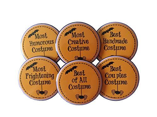 Halloween Party Kostüm Contest prize- Set von 6Tasten Pins 21/10,2cm Einzigartige Preise (Scary Halloween Spiel Ideen)