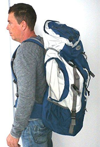 Trekkingrucksack Wanderrucksack Rucksack Tasche ca. 75 Liter vers. Farben Schwarz
