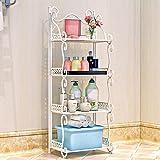 AJZGF 4 storeys regale utility regale metallregale lagerregale drahtregale freistehende schwere küche, wohnzimmer, bad Regal (Farbe : Weiß)
