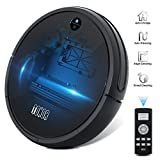 Robotic Vacuum Cleaner Sweeper TONOR , Upgraded Auto Charging/Strong Suction/Infrared Sensor/Drop Sensing RoboVac for Household Pet Fur Hepa Filter Allergens Hard Floor Rug Carpets