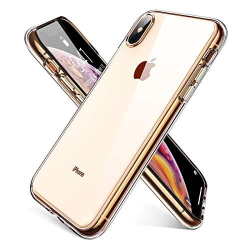 AINOPE Handyhülle kompatibel iPhone XS Max, Kristallklare Anti-Kratzer Hülle Schock-Absorption Phone Case Phone Cover für iPhone XS Max iPhone 6.5 inch MEHRWEG (Transparent)–MEHRWEG