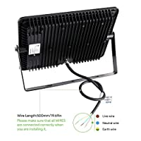 LE 100W LED Flood Lights, 250W HPS Bulb Equivalent,Waterproof, 8000lm, 6500K Daylight White, Outdoor LED Security Lights, Floodlight,Wall Washer Light from Lighting EVER