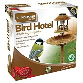 Bird Hotel With Built-In Solar Light and Bird Bath 2