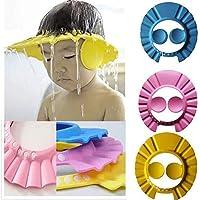 HEKIBE Baby Shower Caps // Baby Bath Cap // Adjustable Safe Soft // Baby Bath Cap Hair Wash Cap // Multi-Colored