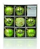 Set von Nine Green & Gold Weihnachtsbaum Baubles (6cm)