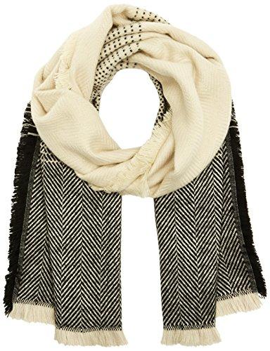 ICHI Damen A FELINA SC Schal, Mehrfarbig (Black 10011), One Size