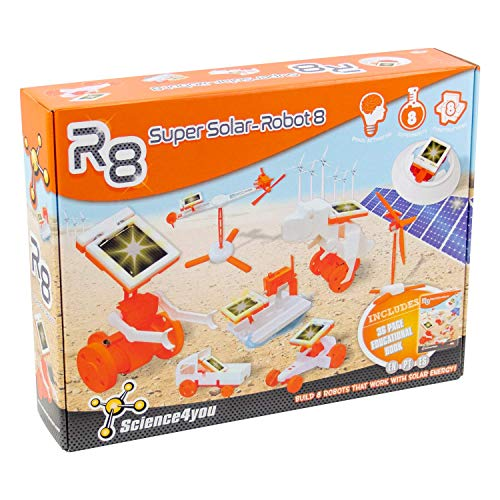 Science4you-R8 Super Solar Robot, Juguete Educativo para niños +8 años, (878098)