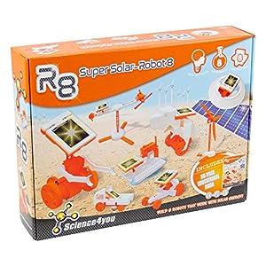 Science4you-R8 R8 Super Solar Robot, Juguete Educativo para Niños +8 Años, (878098)
