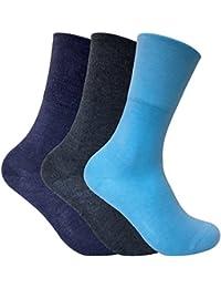 3 Pack Ladies Thin Wide Top Non Elastic Thermal Diabetic Socks for Poor Circulation