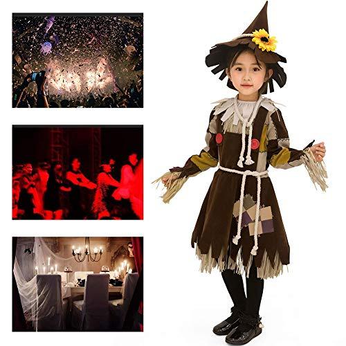 Kostüm Schwarze Spinne Sexy Witwe - JH&MM Halloween Kostüm Mädchen Kleine Vogelscheuche Kleid Anzug Verkleiden Sich Rollenspiele Maskerade Kostüm,L