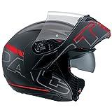AGV Motorradhelm Compact St E2205 Multi PLK, Seattle Matt Schwarz/Silber/Rot, Größe M