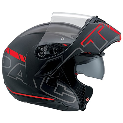 AGV Casco Moto Compact St E2205 Multi PLK, Seattle Matt Black/Silver/Red, L