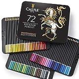 Castle-Art-Supplies-Set - 72 Buntstifte - Set für Malbücher für Erwachsene oder Kinder - aus der Soft-Serie - mit leuchtenden Farben