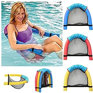 Artistic9 Swimming Floating Chair,Pool Floating Seats Pool Noodle Chair Swim Equipment Loungers Water Seat Recreation Toy for Kids Adults (Blue, Size:7.5x160cm/3.0x62.3)