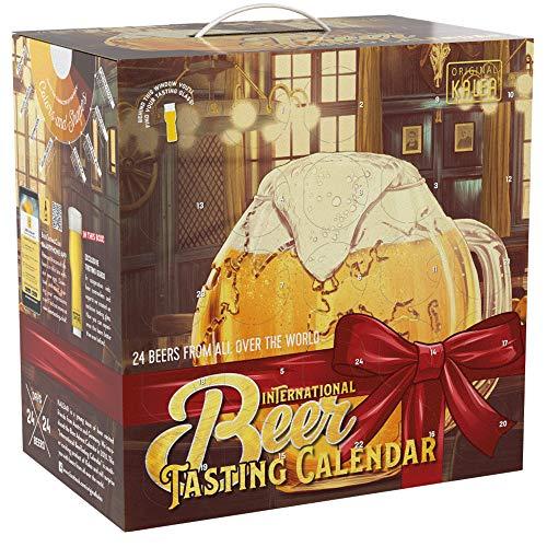 Kalea Bier-Adventskalender 2019 | Internationale Biere und 1 Verkostungsglas | 24 x 0.33 l Flaschen | Biere der ganzen Welt