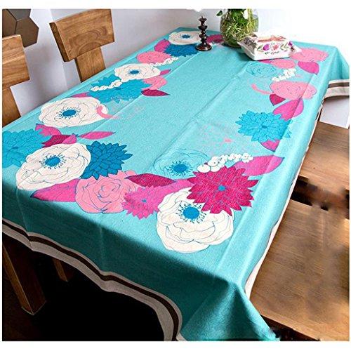 GYP Nappe Fleurs rétro et oiseaux haut de gamme Rectangle Tissu de coton Tissu de table Tissu de table ( Couleur : A , taille : 200*140cm )