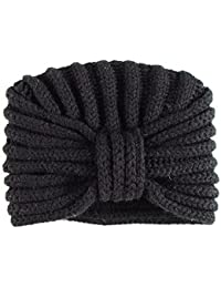 BLACK Chunky Rib Knit Cashmere Turban