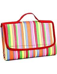 Semoss Multicolore Manta de Picnic Impermeable 200 x 150 cm XXL Camping Alfombra Colchón Playa Comida - Rojo