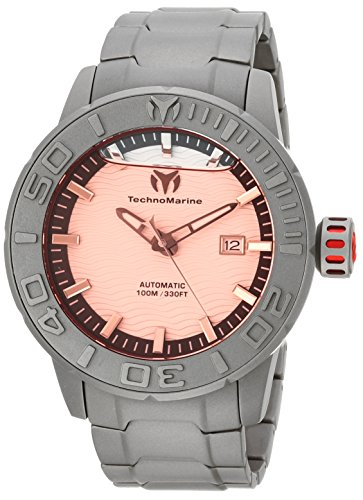 Technomarine Men's 'Reef' Automatic Titanium Casual Watch, Color:Grey (Model: TM-516003)