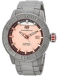Technomarine Men's 'Reef' Automatic Titanium Casual Watch, Color:Grey (Model: TM-516003)