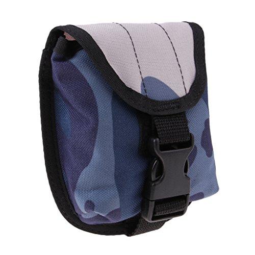 D DOLITY Hochwertiger Nylon2 Zoll Taucher Gewicht Gürtel Tasche Weight Pocket Bleitaschen Bleigurt Tasche für Tauchen Tech Dive 2 KG Gewicht - Blau
