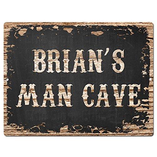 Chic Man Cave de la señal de estilo rústico retro Brian 9pulgadas...