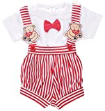 #4: Toffyhouse Baby Boys Teddy Romper (Red, 6-9 Months)