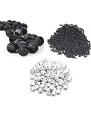 500g Activated Carbon + 500g Ceramic Rings + 22 Bio Balls - Suitable for All Aquarium Fish Tank ** COLOURFUL AQUARIUM ** (Filter Combo)