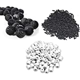 500g Activated Carbon + 500g Ceramic Rings + 22 Bio Balls - Suitable for All Aquarium Fish Tank ** COLOURFUL AQUARIUM ** (Filter Combo)