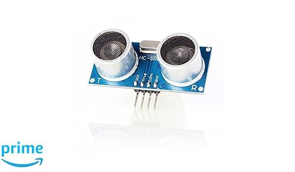TeOhk Ultrasonic Sensor Module HC-SR04 Yellow Cartoon Mounting Ultrasonic Ranging Module Inductive Distance Probe Ultrasonic Probe Sensor with Holder