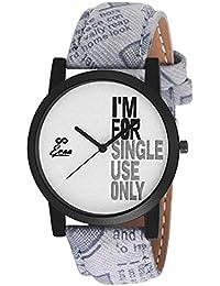 Eraa Smart Grey & White Analog Wrist Watch For Men