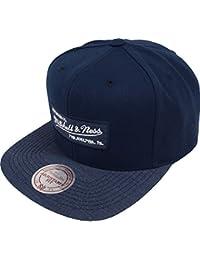 Mitchell & Ness Nostalgia Logo Navy Heather 2 Tone EU946 Snapback Cap Basecap