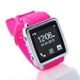 Often(TM)MQ588-L GSM Moda Pantalla 1.54 inch HD Smart Touch Reloj Bluetooth teléfono celular color rosa