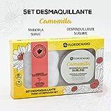 Set Crema Desmaquillante Ojos y Cara de Camomila, Manteca de Karité, Aceite de Oliva y de Almendras Dulces 90ml y Manopla Toallita Microfibra Reutilizable
