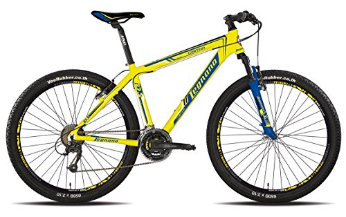 LEGNANO BICICLETA 630 CORTINA 27 5 DISCO 21 V TALLA 44 AMARILLO (MTB CON AMORTIGUACION)/BICYCLE 630 CORTINA 27 5 DISC 21S SIZE 44 YELLOW (MTB FRONT SUSPENSION)