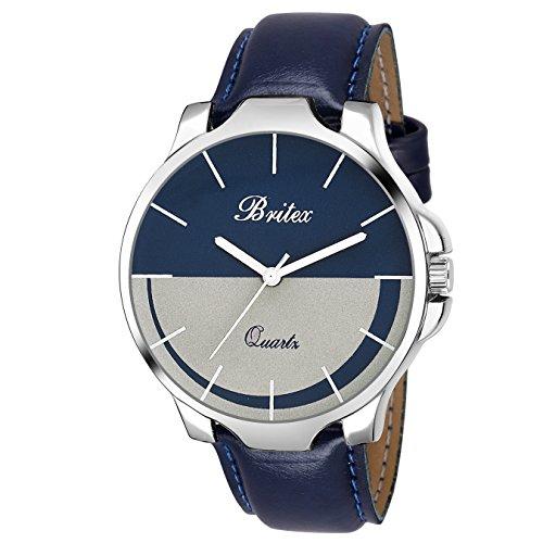 Britex White & Blue Dial Analog Watch For Men/Boys - (BT7022)