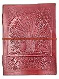 Chic & Zen–Cuaderno, bloc de notas, diario, libro, piel auténtica, Vintage, árbol de la vida 15cm x 20cm, papel Premium