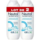 Neutral Shampooing Bébé pour Peaux Sensibles et Réactives Hypoallergénique 0% Paraben, 0% Parfum, 0% Colorant, Nordic Ecolabel (Lot de 2x250ml)