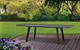 Keter Harmony Outdoor Extendable Garden Furniture Dining Table - Graphite/Light Grey